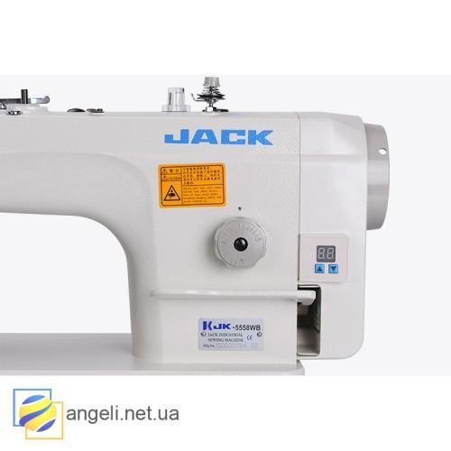 Jack JK-5558G/WG прямострочная машина с обрезкой края материала и встроенным сервоприводом