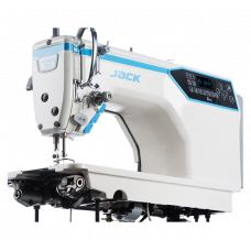 Jack A4E-CHLQ-7 прямострочная швейная машина для средних и тяжёлых тканей с увеличенным челноком, длиной стежка до 7мм и с автоматикой