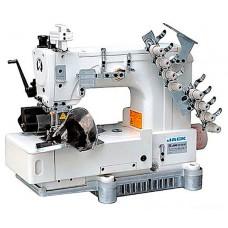 Jack JK-8009HF четырехигольная швейная машина цепного стежка для пришивания пояса брюк