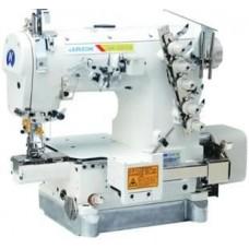 Jack JK-8670BDI-01GB-356 3-игольная пятиниточная распошивальная машина с миницилиндрической платформой