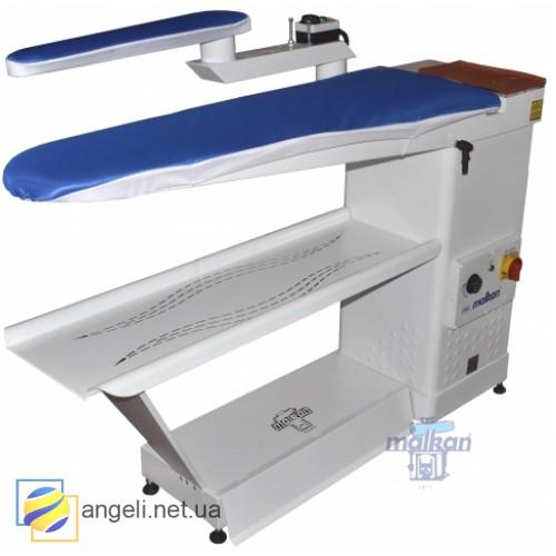Malkan UP101KR Гладильный стол с вакуумом, поворотным рукавом и подогревом рукава