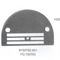 Игольная пластина H26 Ø 2,6 мм (150792-0-01) Универсальная