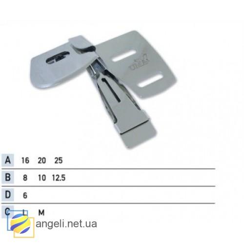 Приспособление для подгибки вниз с открытым срезом одновременно с притачкой шлевки встык снизу UMA-100