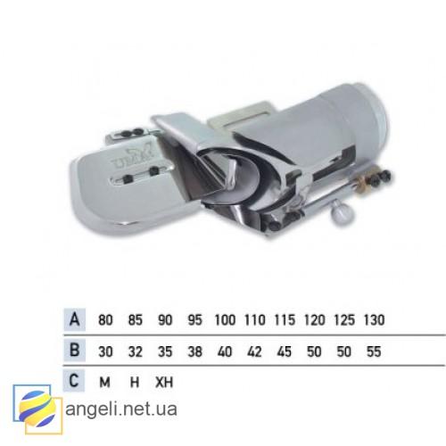 Приспособление для втачки цельнокроенного пояса с изгибом в четыре сложения UMA-110-K