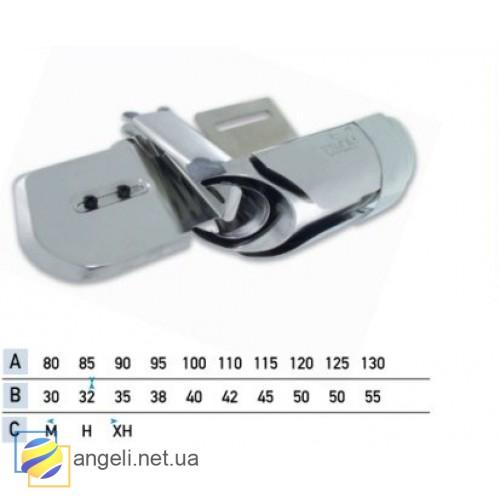 Приспособление для втачки цельнокроенного пояса с эластичными участками в четыре сложения UMA-110-LS