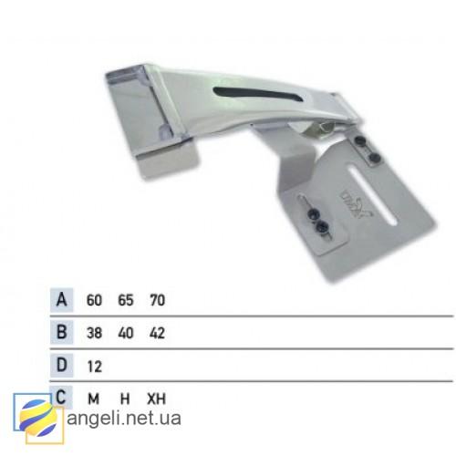 Приспособление для притачки верхнего пояса с подгибом среза брюк вверх UMA-116
