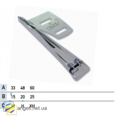 Приспособление для изготовления шлевки с двойной подгибкой срезов встык с корсажем UMA-126