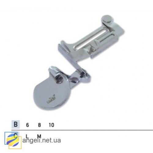 Приспособление для подгибки пояса вверх с закрытым срезом для эластичных тканей UMA-136