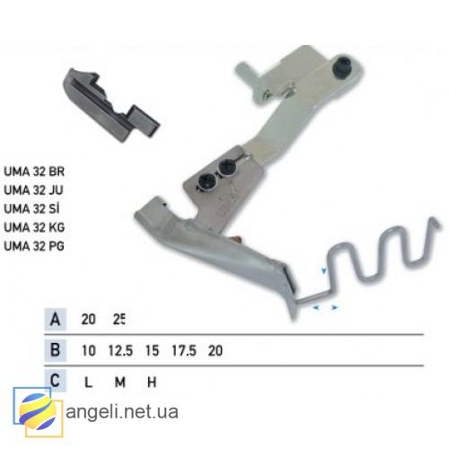 Приспособление для втачки канта в два сложения со шнуром UMA-32 (10~20)