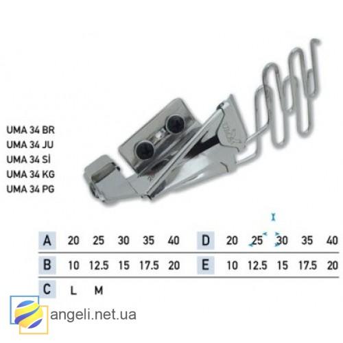 Приспособление для втачки двух разновеликих кантов в два сложения UMA-34