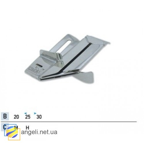 Приспособление для втачки декоративной ленты в мешок UMA-412