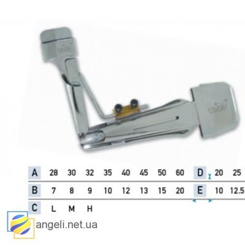 Приспособление для окантовки в четыре сложения с кантом в два сложения UMA-43 (7~20)