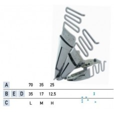 Приспособление для втачки трех равновеликих кантов в два сложения UMA-62