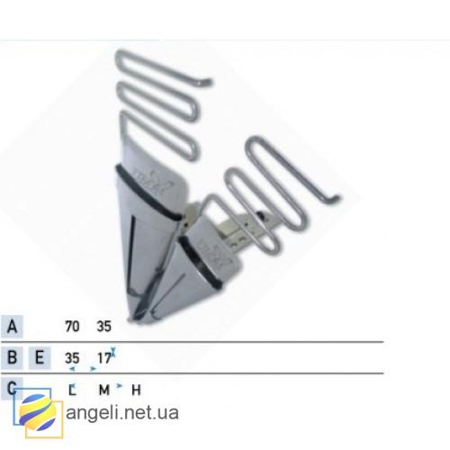 Приспособление для втачки двух разновеликих кантов в два сложения UMA-64