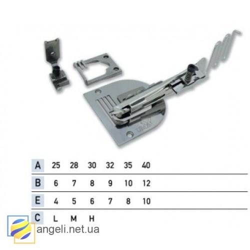 Приспособление для окантовки в четыре сложения зиг-загом со вставкой резинки UMA-69