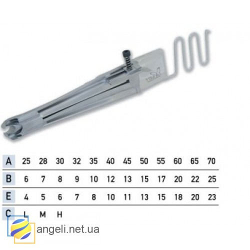 Приспособление для окантовки в четыре сложения с резинкой UMA-72 (6~13)