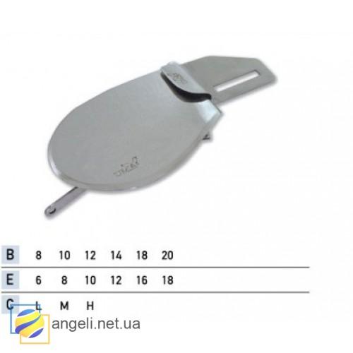 Приспособление для подгибки вниз с заткрытым срезом с притачкой резинки UMA-86-B