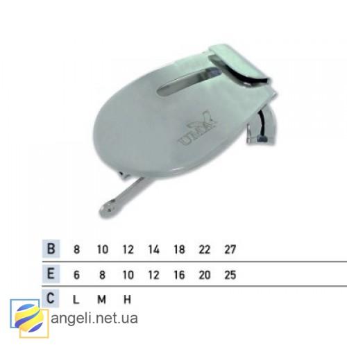 Приспособление для подгибки вниз с открытым срезом с притачкой резинки UMA-87