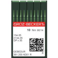 Игла Groz-Beckert 134-35, 2134-35 GEBEDUR позолоченная для колонковых машин 10 шт/уп