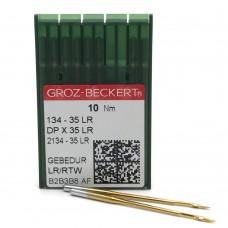 Игла Groz-Beckert 134-35LR GEBEDUR позолоченная для колонковых машин 10 шт/уп
