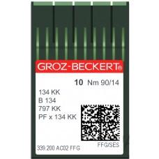 Игла Groz-Beckert 134 KK, B134, 797KK FFG трикотажная с толстой короткой колбой 10 шт/уп