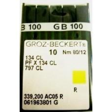 Игла Groz-Beckert 134CL, 797CL, PFx134CL толстая колба с желобком для нити 10 шт/уп
