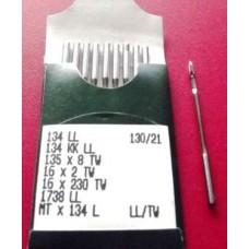 Игла Groz-Beckert 134LL, 135x8TW, PFx134LL с толстой колбой левая лопатка для кожи 10 шт/уп