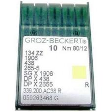 Игла Groz-Beckert 1906,135x53,SGx1906 №80 в упаковке 10 шт