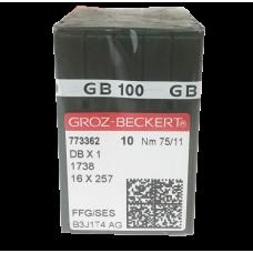 Игла Groz-Beckert DBx1 FFG/SES Для трикотажных тканей с закругленным острием