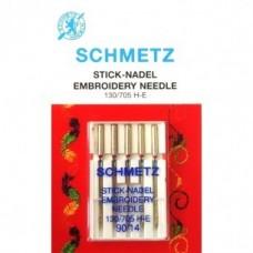 Игла Schmetz  EMBROIDERY 130/705 H-E VDS №75,90 для вышивания