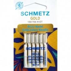 Игла Schmetz GOLD EMBROIDERY 130/705 H-ET VDS №75,90 для вышивания