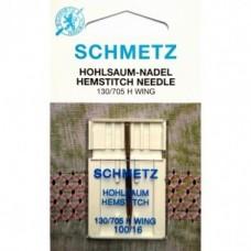 Игла Schmetz  HEMSTITCH 130/705 H WING SES №100 для декоративных швов и мережек