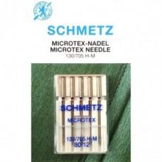 Игла Schmetz MICROTEX 130/705 H-M VСS №60,70,80,90,100,110 с очень тонким острым острием