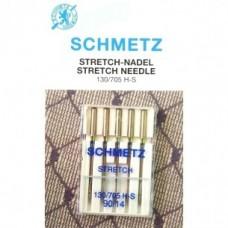 Игла Schmetz STRETCH 130/705 H-S VDS №65,75,90 для эластичных материалов и трикотажа