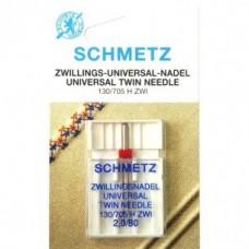 Игла Shmetz TWIN UNIVERSAL 130/705 H ZWI SCS двойная универсальная