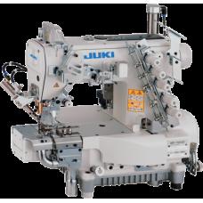 Juki MF-7923-H23-B64/UT59/MC37 трёхигольная распошивальная машина с цилиндрической платформой, верхним и нижним застилом