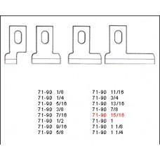 Нож прямой 71-90  1, 1/2, 3/4, 3/8, 5/8, 7/16, 7/8, 9/16 на Juki