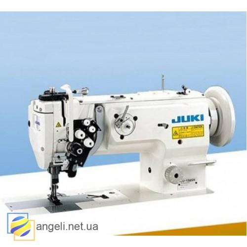 Juki LU-1565NH-AA Двухигольная швейная машина с отключением игл и унисонным продвижением материала