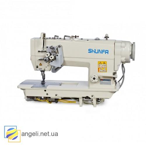 Промышленная двухигольная машина Shunfa SF 8752 с полной автоматикой