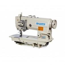 Shunfa SF875-H Двухигольная швейная машина с увеличенными челноками и отключением игл