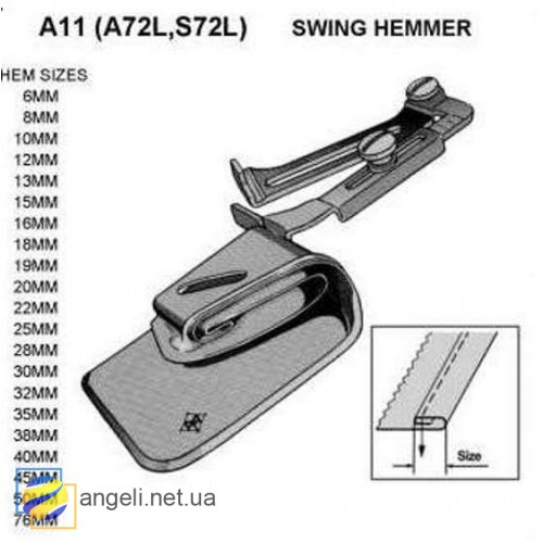Приспособление рубильник для двойной подгибки A11