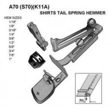 A70 приспособление с двойной подгибкой подпружиненное