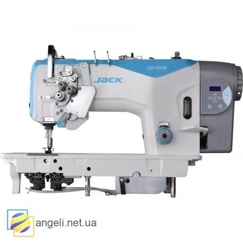 Jack JK-58750BДвухигольная швейная машина с отключением игл и увеличенными челноками