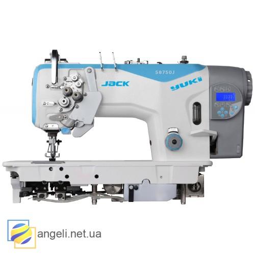 Jack JK-58720J  Двухигольная швейная машина с автоматикой, увеличенными челноками
