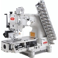 BRUCE BRC-009VCDI-08064P 8 игольная машина цепного стежка с зубчатым пуллером