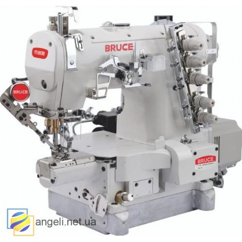 BRUCE BRC-264BDII-01CBx356/UT Промышленная плоскошовная машина с платформой мини-цилиндр и автоматическими функциями