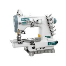 Siruba C007K-W222-356/CQ плоскошовная швейная машина (распошивалка) с цилиндрической платформой и устройством для окантовки
