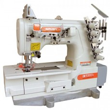 Siruba F007K-W122-364/FHA (F007J-W122)  плоскошовная швейная машина с устройством для подгибки
