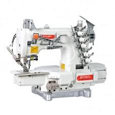 Siruba C007K-W122-356(364)/CH /DCKU1-0 плоскошовная швейная машина с цилиндрической платформой и верхним раскладчиком с встроенным сервомотором