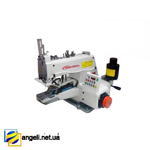 Spark Special BML-1377D промышленная пуговичная машина для пришивания плоских пуговиц со встроенным сервомотором